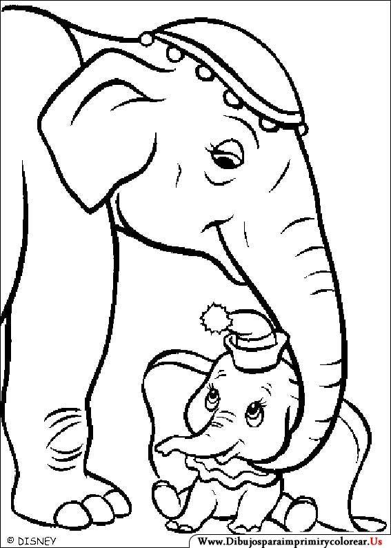 Dibujos de Dumbo para Imprimir y Colorear | Dibujo Infantiles ...
