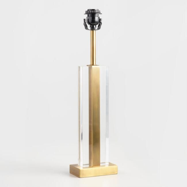 Acrylic Pillar Nina Table Lamp Base V2 Lamp Bases Table Lamp Base Lamp