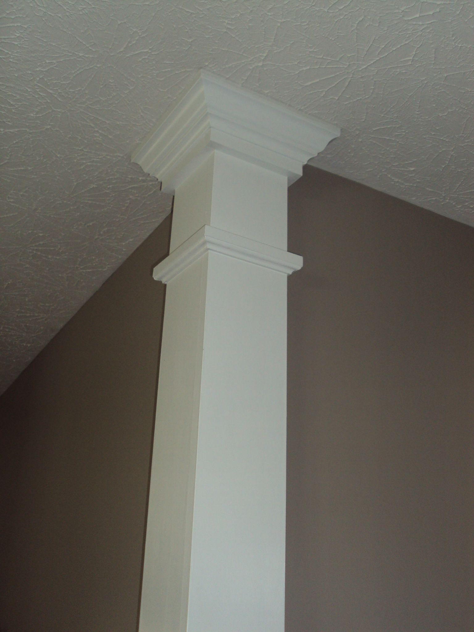 Column On A Corner My Husband Made Easy To Make Adds To Your Home Moldings And Trim Interior Columns Cheap Home Decor