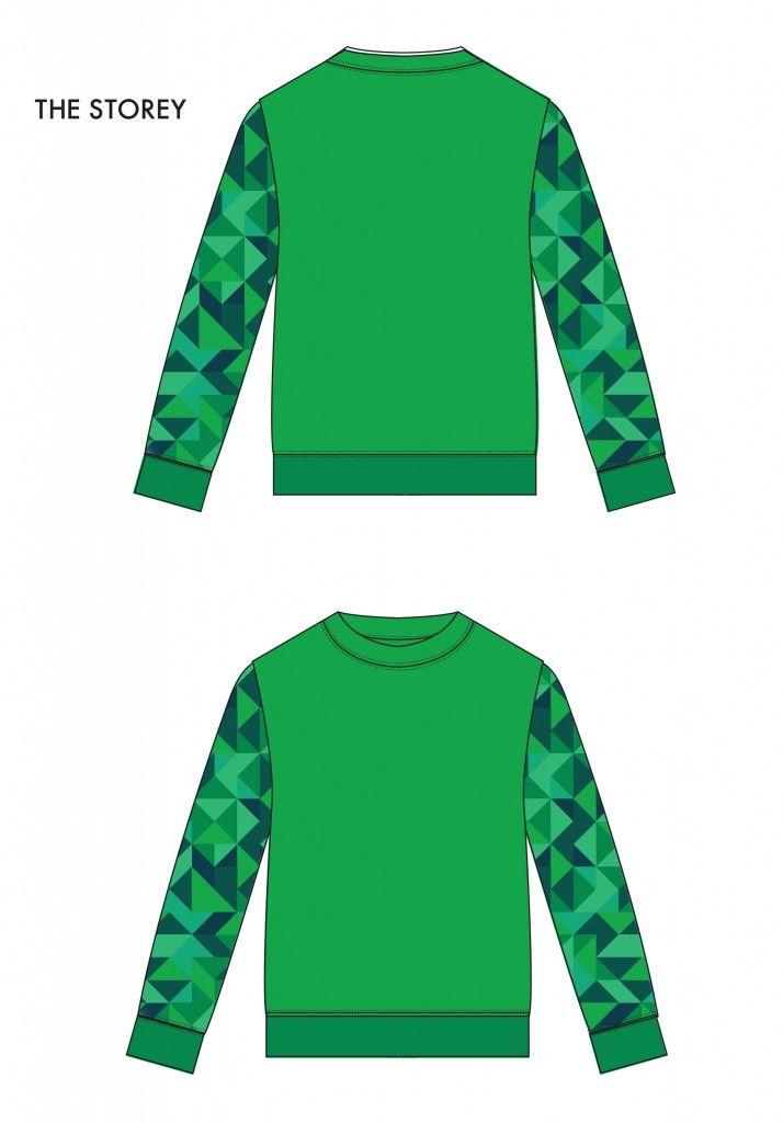 기하학 스웨트 셔츠