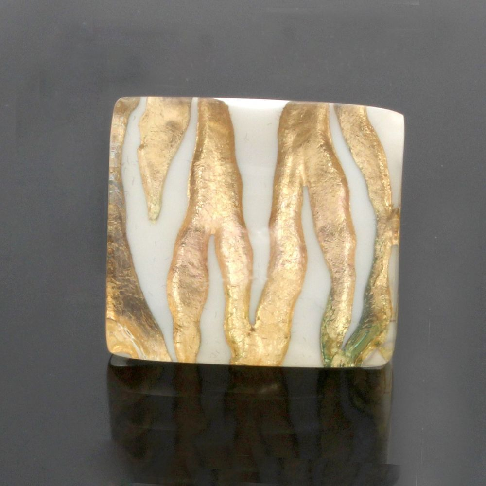 Gold Over White Bold Animal Print Ring Size 7 #SteelbyDesign #Fashion
