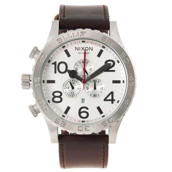 Nixon Men's '51-30 Chrono' Leather Strap Watch - Overstock™ Shopping - Big Discounts on Nixon Nixon Men's Watches