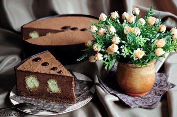 Шоколадно-ванильный торт Облака в небо спрятались / Удивительная еда!