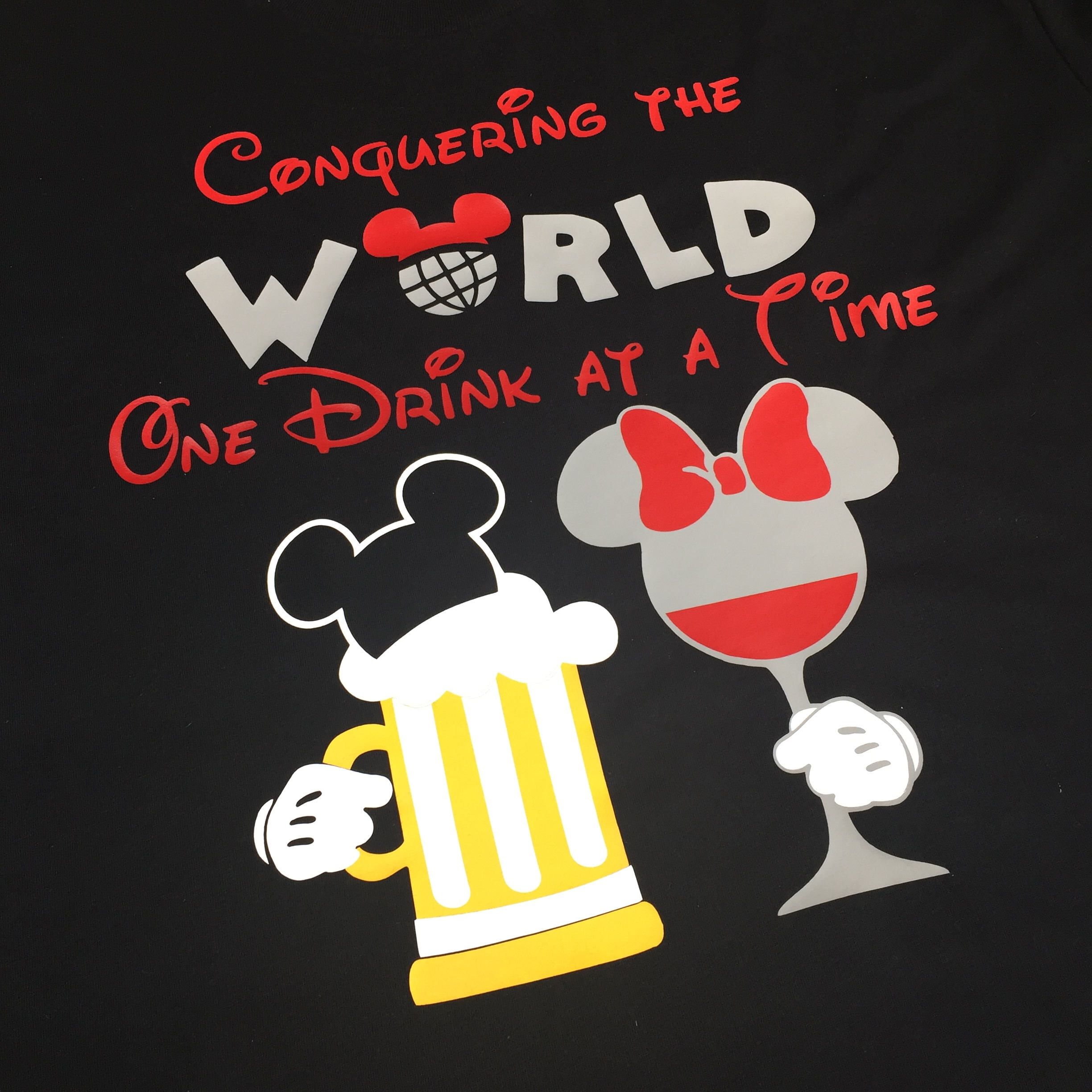 Food And Wine Shirt For Couples Food And Wine Shirt Ideas Epcot Food And Wine Conquering The World One Drink A Wine Shirt Idea Wine Shirts Wine Recipes