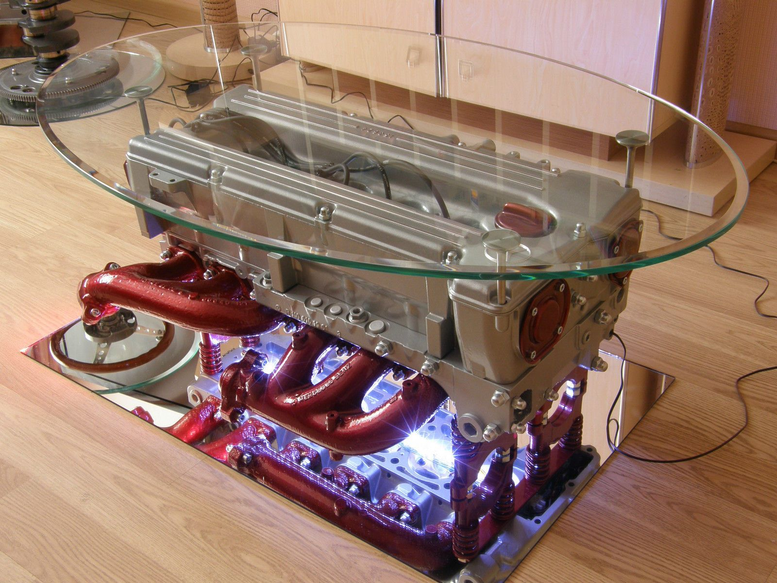 Top Gear Engine Coffee Table Made From Mercedes Benz Engine Tv Stand Tv Rack Casas