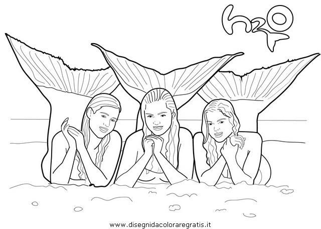 Coloring Pages Mermaids H2o 2
