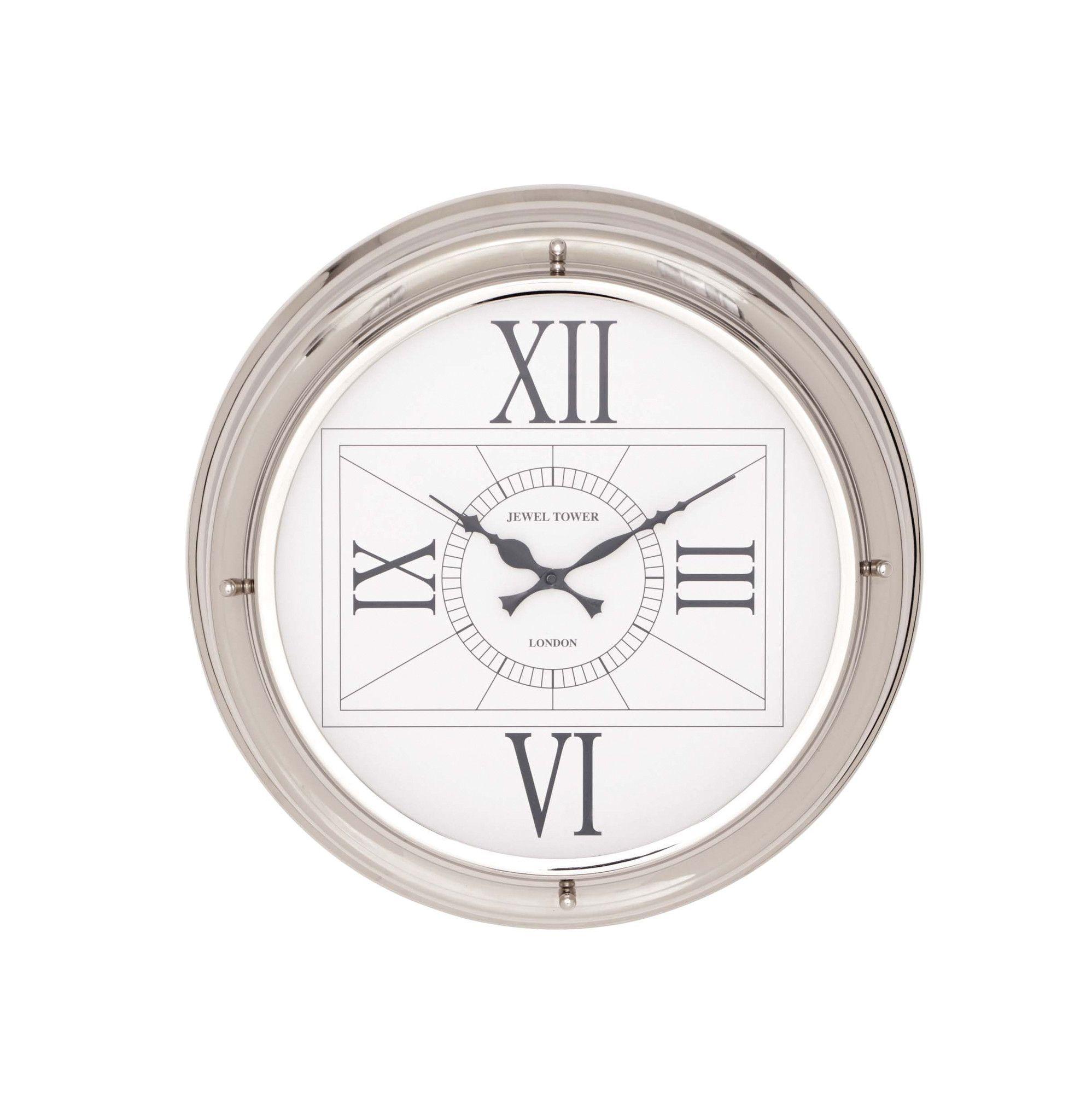 The Modern Stainless Steel Wall Clock Steel Wall Clock Nautical Clocks