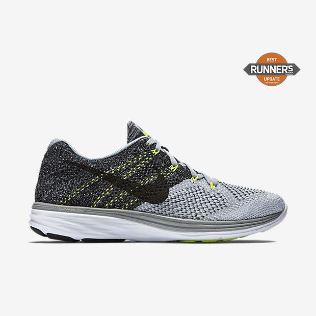 Nike Hommes Flyknit Lunar1 + Chaussures De Course Noir-blanc-gris