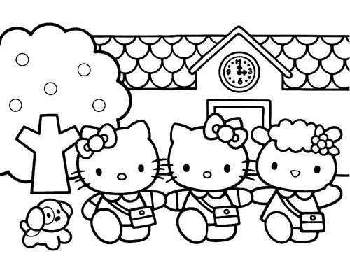 Hello Kitty Coloring Pages 07 Of 15 Mimmy Kitty And Fifi Hd Wallpapers Wallpapers Download High Resolution Wallpapers Hello Kitty Para Colorear Hello Kitty Imprimible Dibujos De Hello Kitty