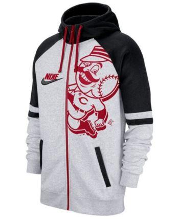 low priced 0128f be7bf Nike Men's Cincinnati Reds Walkoff Full-Zip Hoodie - Tan ...