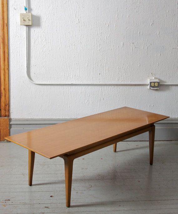 Mid Century Modern Surfboard Style Coffee Table Solid 50s 60s Mad Men
