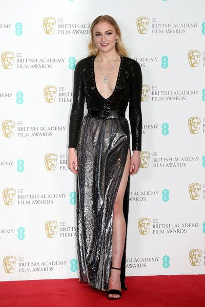 Presenter Sophie Turner poses in the winners room during the 70th EE British Academy Film Awards (BAFTA) at Royal Albert Hall on February 12, 2017 in London, England.