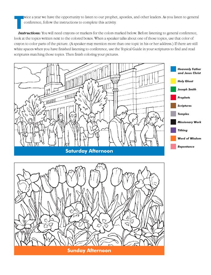 Conference coloring activity   Church-General Conference   Pinterest
