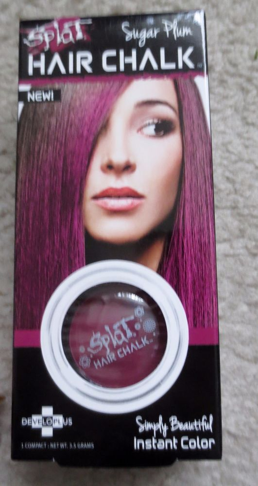 New Splat Hair Chalk Instant Color Highlights Sugar Plum 35grams