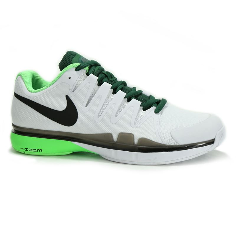 Nike Zoom Vapor 9 5 Tour Men S Tennis Shoe White Voltage Green Gorge Green 631 Tennis Shoes Mens Tennis Shoes Tennis Court Shoes