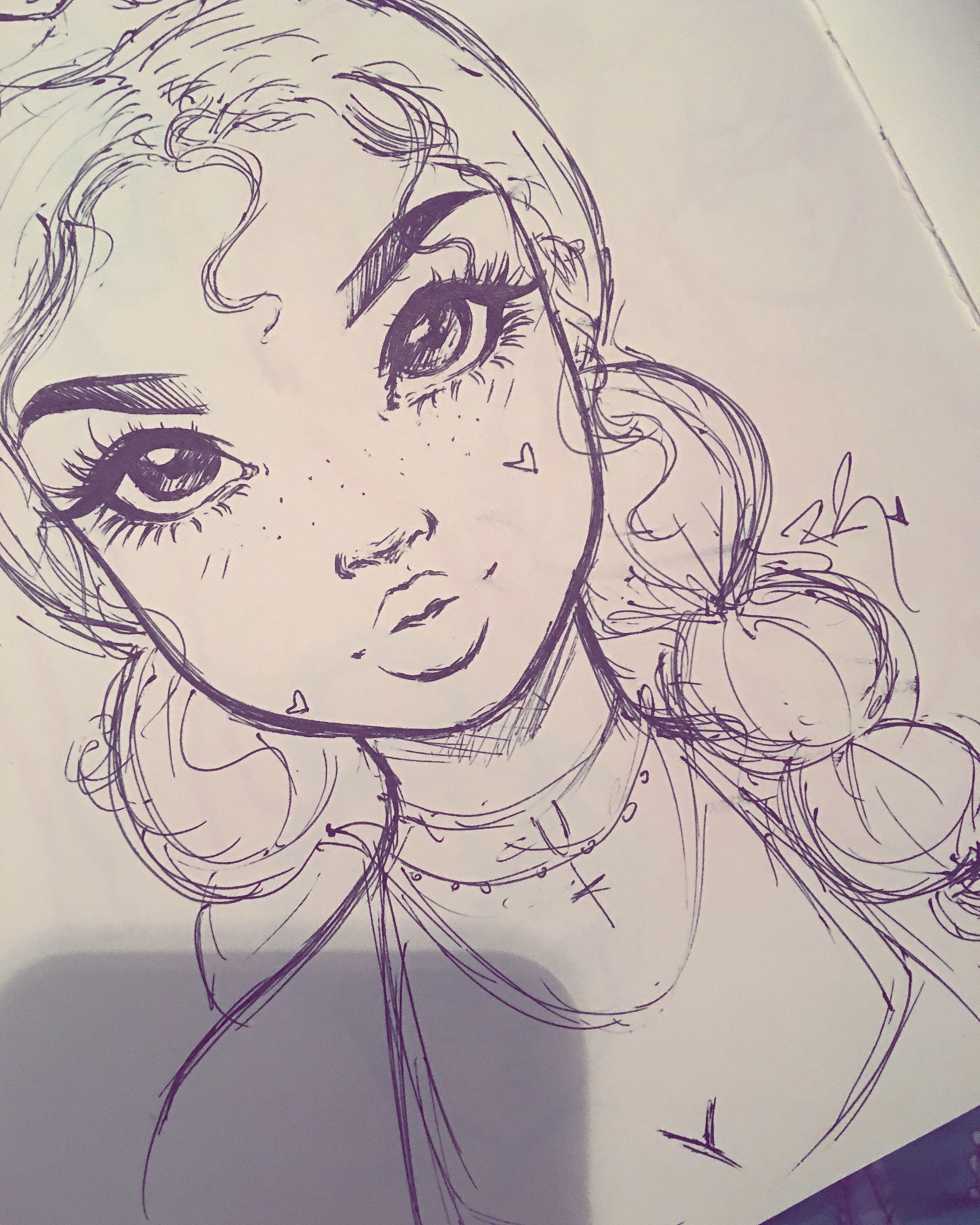 Картинки для срисовки в скетчбук карандашом девушки