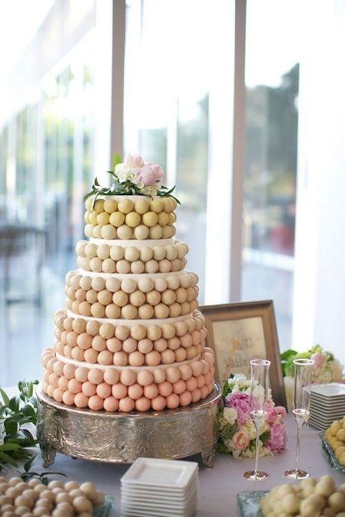 Cake Pop Wedding Cake With Images Wedding Cake Alternatives