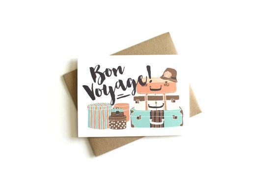 Bon voyage card traveling card going away card vacation card bon voyage card traveling card going away card vacation card greeting card m4hsunfo