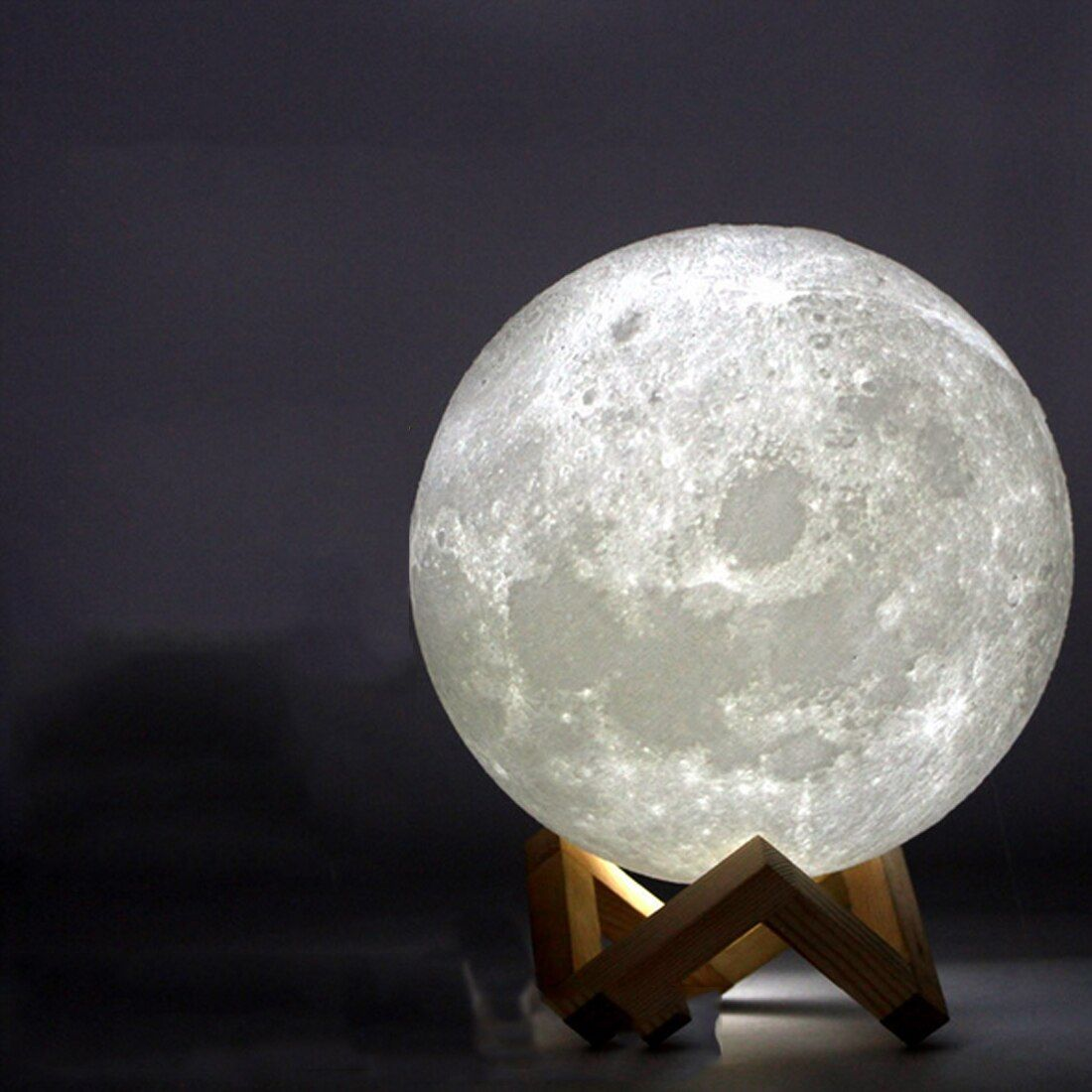 Cheap Price For Rechargeable 3d Print Moon Lamp 2 Color Change Touch Switch Bedroom Bookcase Night Light Home Decor Creati In 2020 Colorful Table Lamp Lamp Night Light