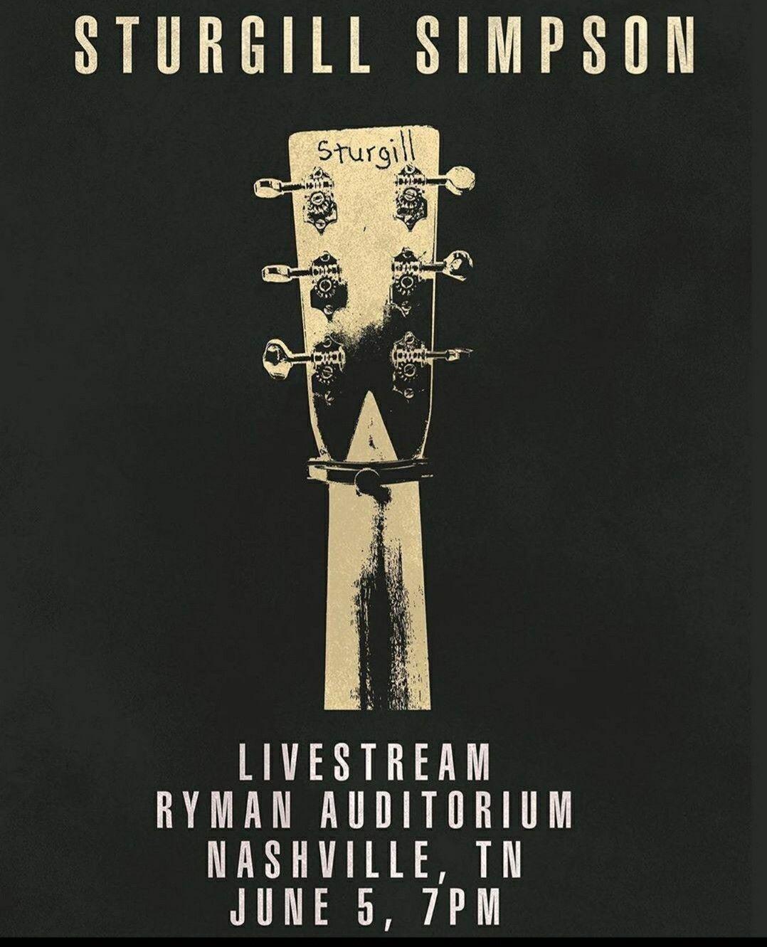 sturgill simpson live at the ryman 6 5