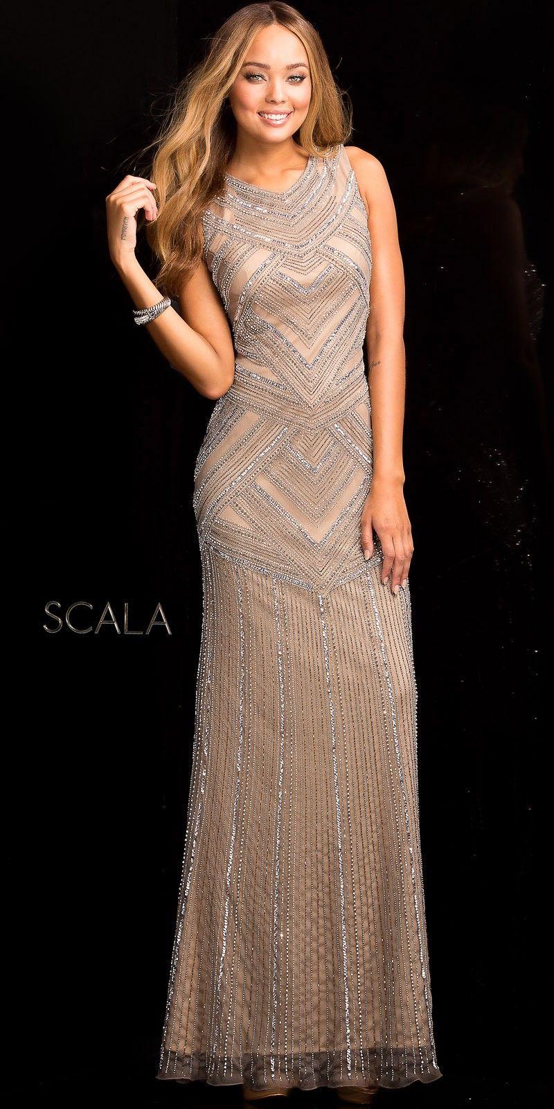 Beaded Modern Gatsby Evening Dress by Scala   Evening gowns ...