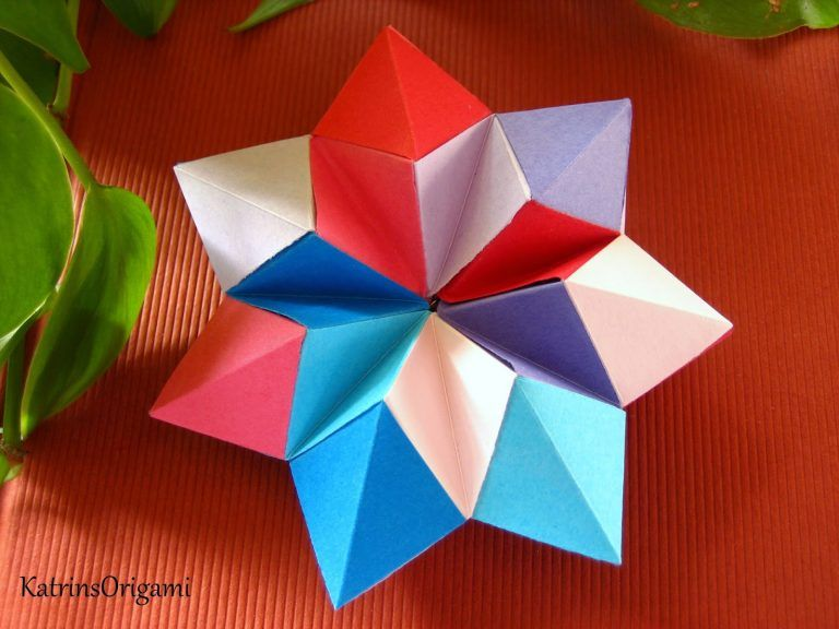 Origami Stern Anleitung