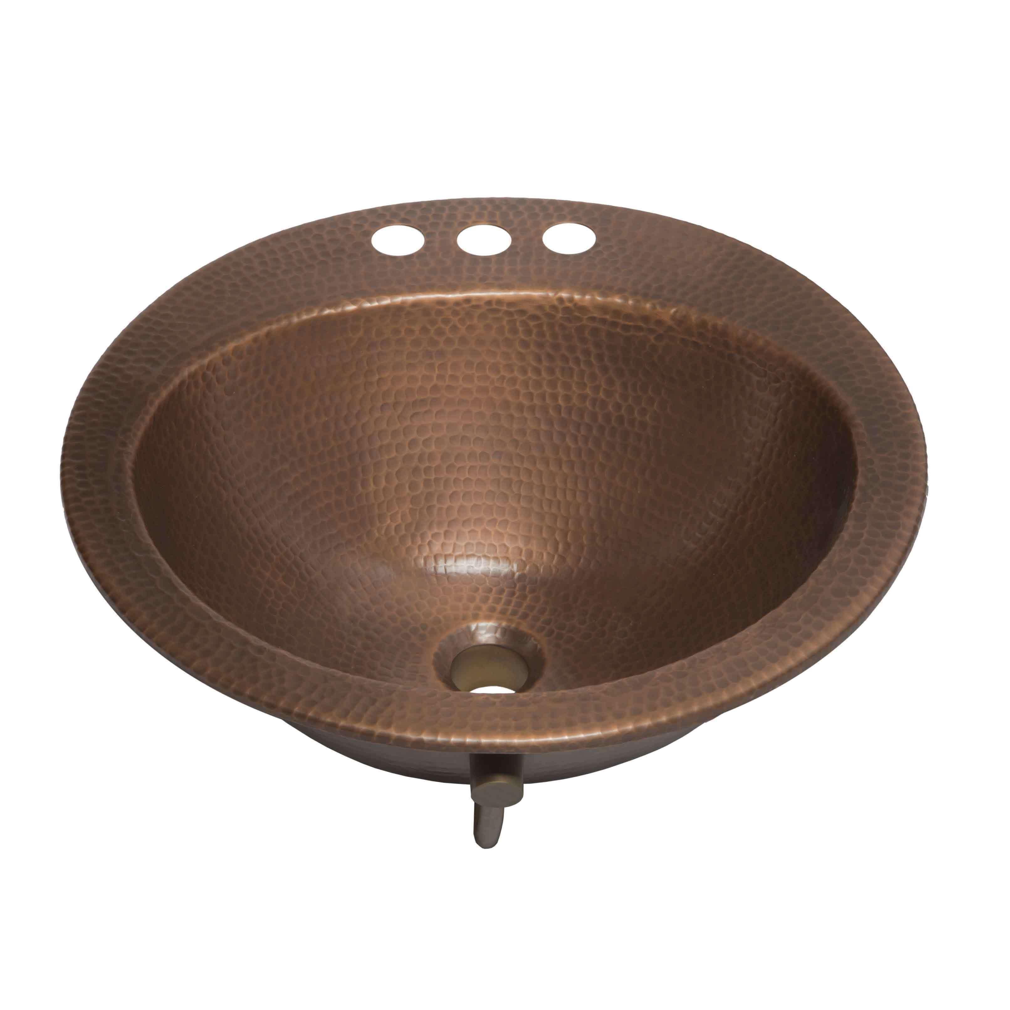 Sinkology Bell 19 Drop In Copper Bath Sink Sinkology Round Drop