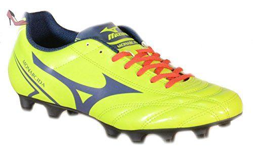 Monarcida Mizuno Fùtbol Cuir Vert Md Jr Chaussures 152437 aqw475q