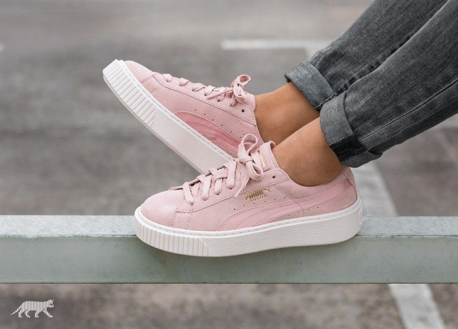 puma platform mono leather rose