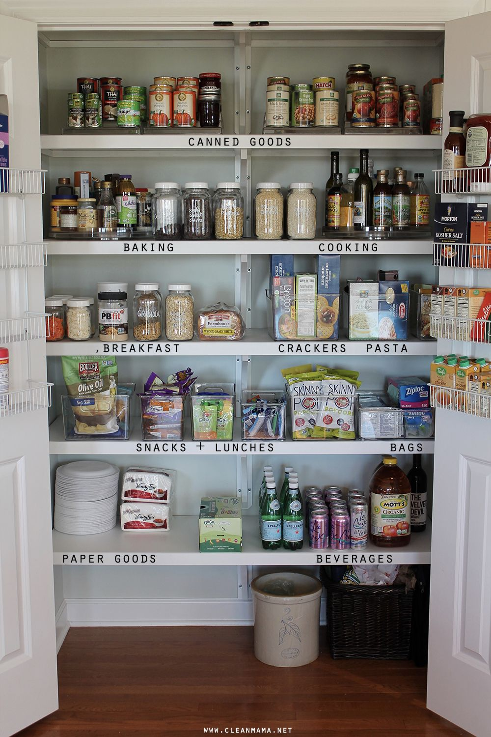Organizing a simple pantry pantry organizations and organizing - Ideas for kitchen pantry ...