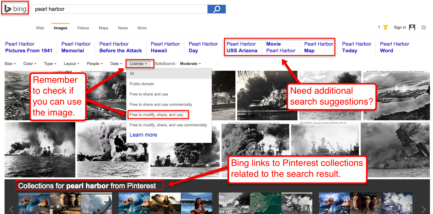 """Image search results for """"pearl harbor"""" with Bing"""