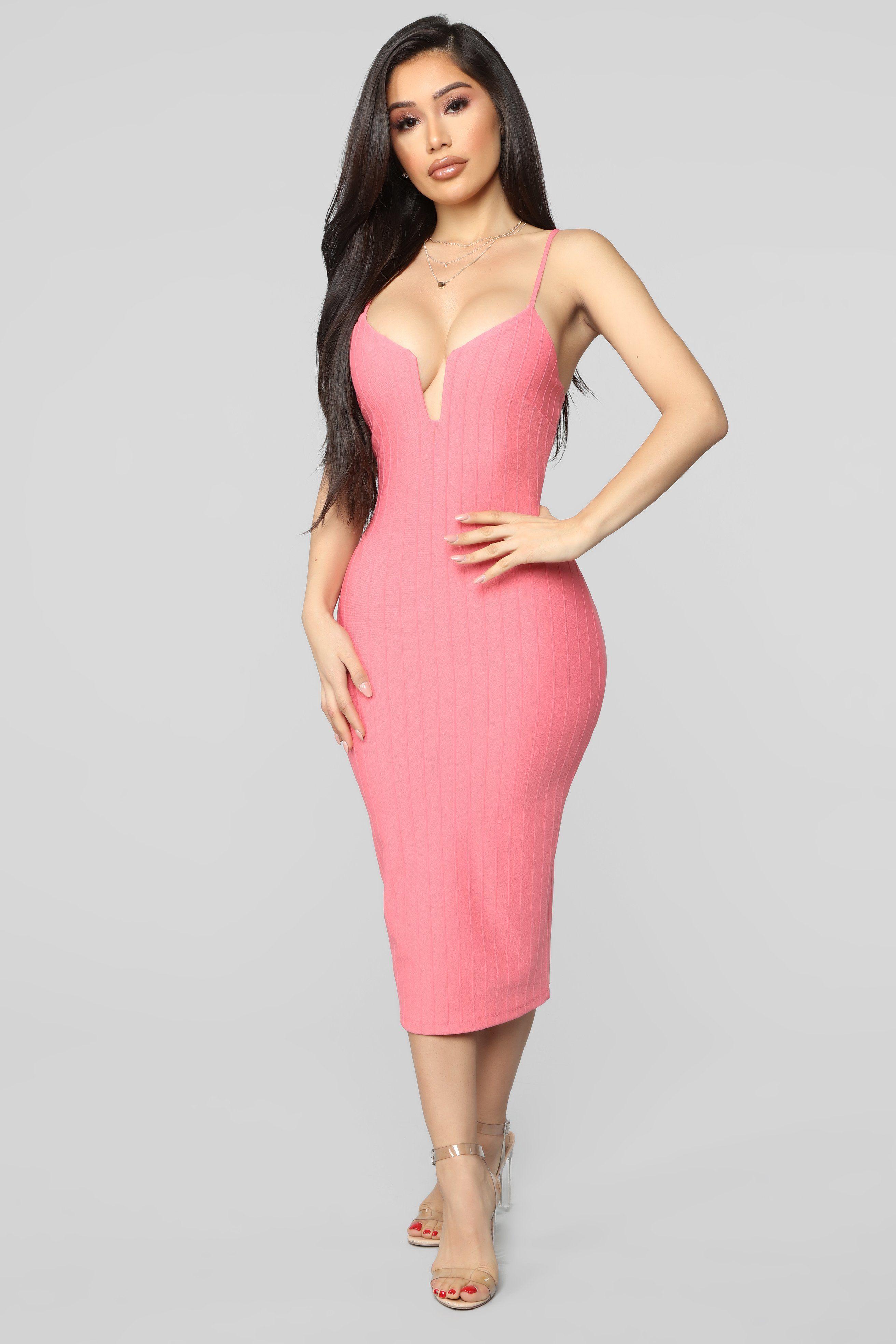 Never Follow Rules Midi Dress Coral Dresses, Plus