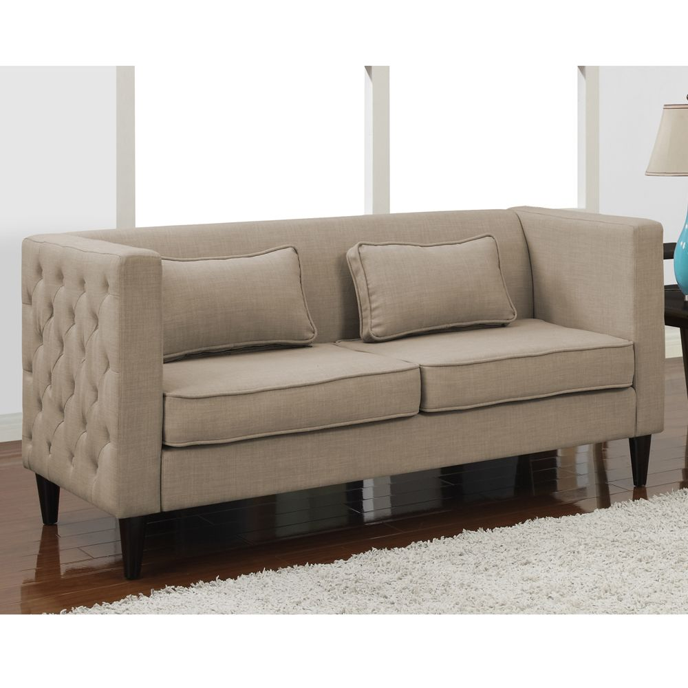 Dune Side Tufted Sofa And Rectangular Pillows Set Ping Great Deals On Sofas Loveseats