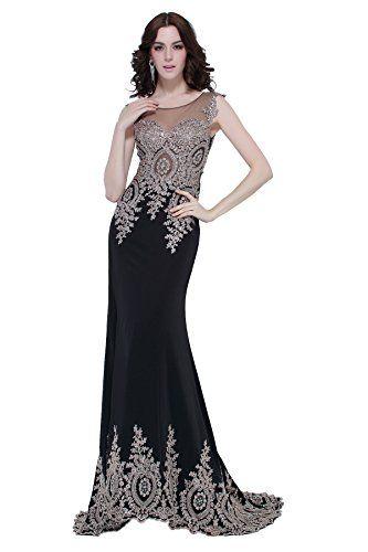 Erosebridal Sleeveless Evening Dress Sexy Mermaid Prom Dr...