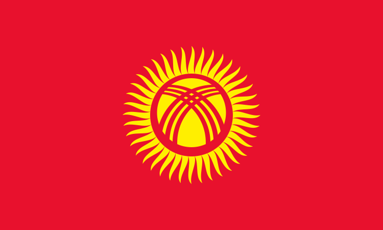 Flag Of Kyrgyzstan Kyrgyzstan Flag Flags Of The World Flag