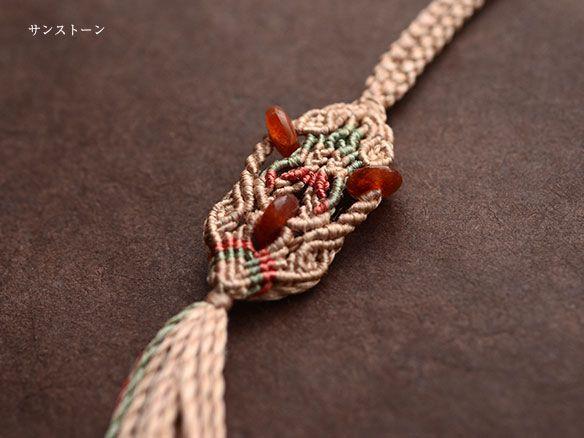 サンストーン 天然石ネックレス