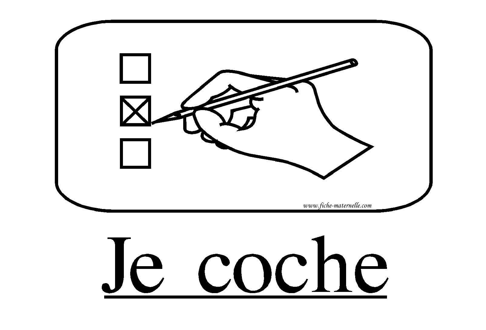 Ressources Pedagogiques Affichage Classe Consigne Je Coche Classe Maternelle Consignes Exercice Ce1 A Imprimer