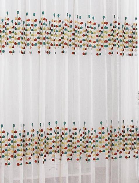 tissu voile rideaux brode coton fleur 1m -Matière coton nylon -Prix - calculer le prix de sa maison