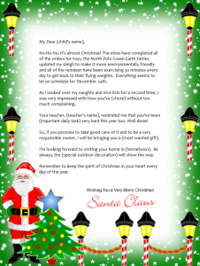 photo regarding Free Printable Letter From Santa Template identified as No cost Printable letter in opposition to Santa. Countless types in direction of take