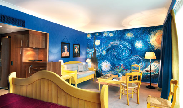 van gogh bedroom design - how cool would this be to paint, right ...