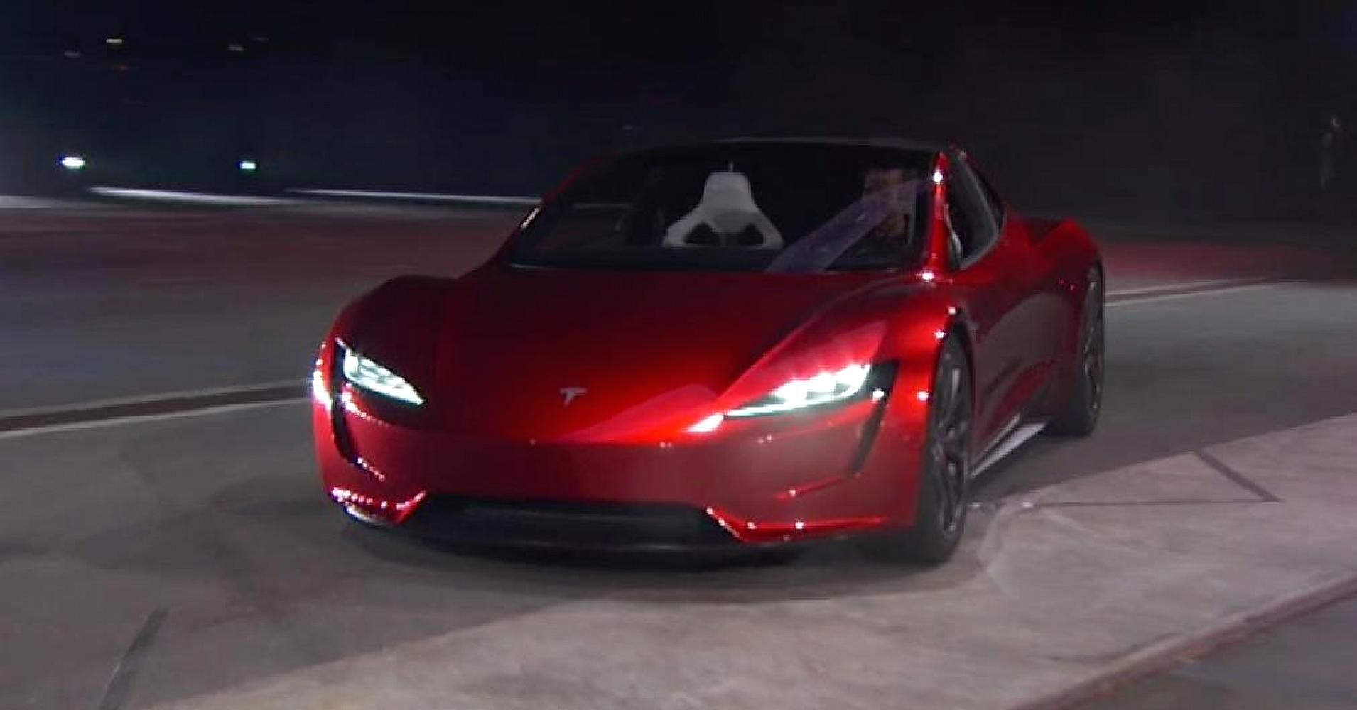Tesla Ceo Elon Musk Unveils A Surprise New Car A New Ridiculously