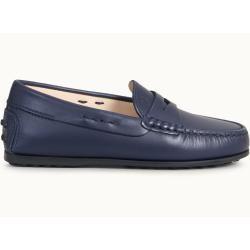 Photo of Tod's – Junior City Gommino Mokassins aus Leder, Blau, 32 – Junior Shoes Tod's
