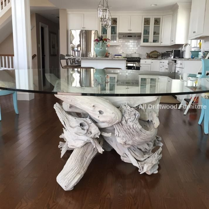 Beautiful Driftwood Dining Table Hand Crafted From Gulf Island Driftwood Driftwood Dining Table Driftwood Kitchen Driftwood Table