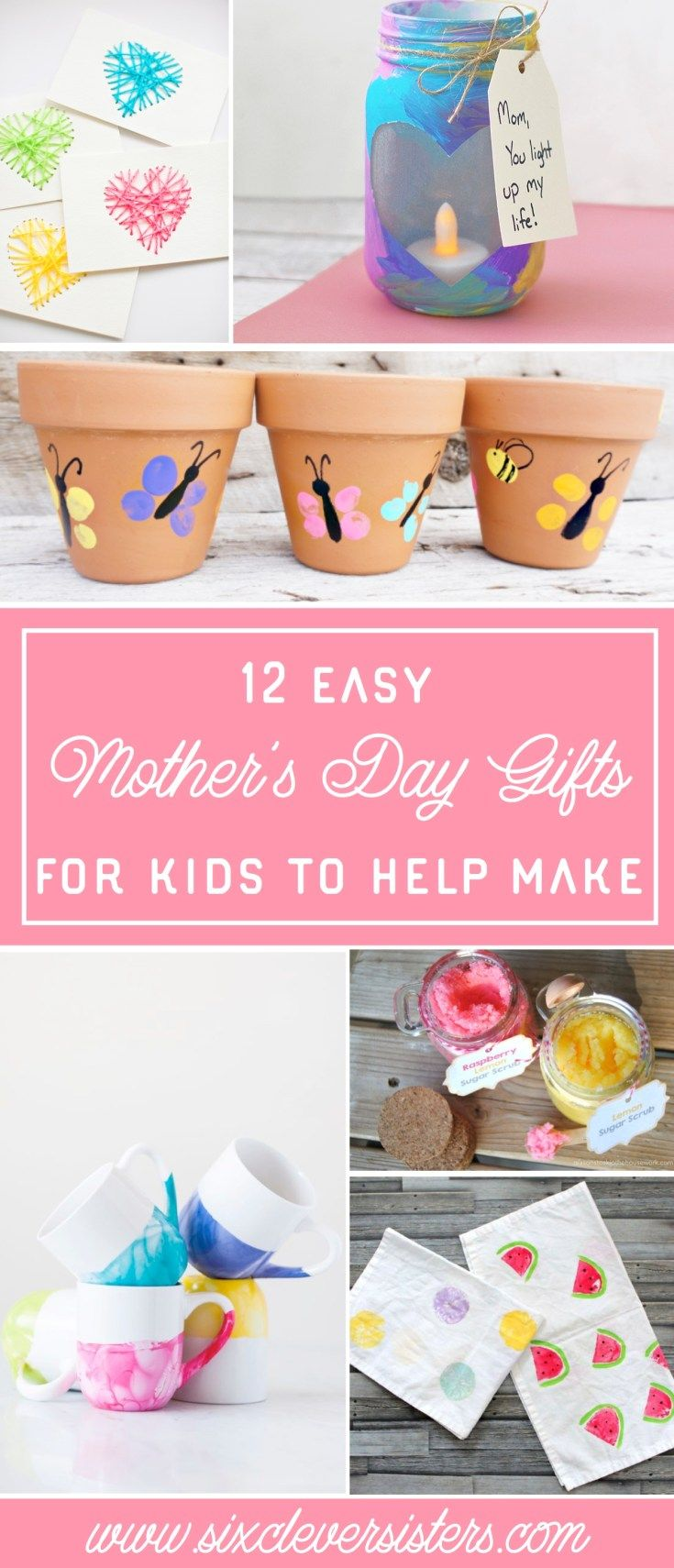 12 mothers day gifts for kids to help make six clever
