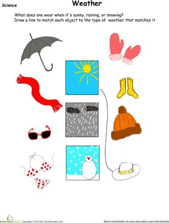 weather wear matching for the boys preschool weather weather kindergarten seasons worksheets. Black Bedroom Furniture Sets. Home Design Ideas