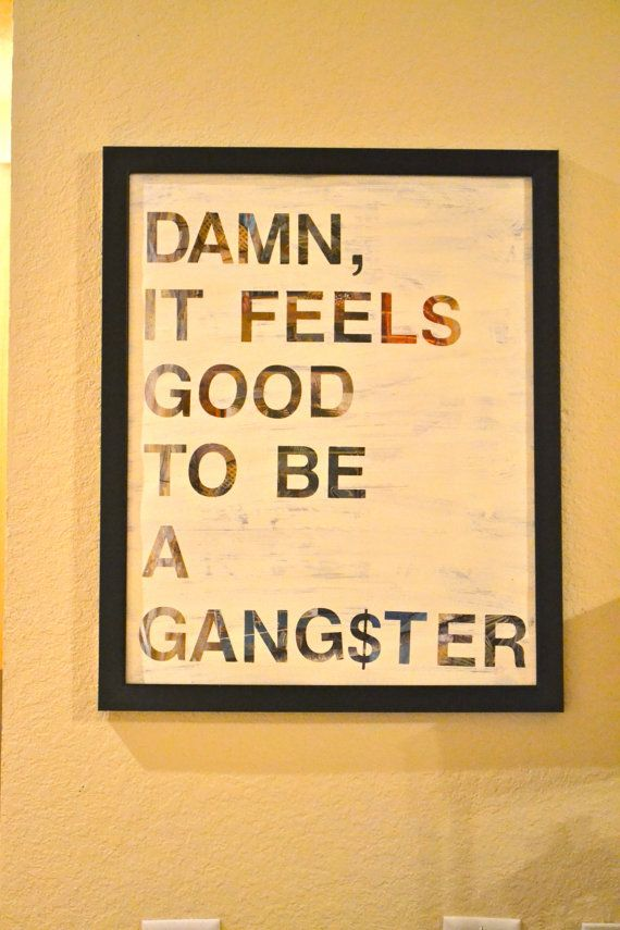 It Feels Good To Be A Gangster / Acrylic Painting by FanOfThings, $20.00