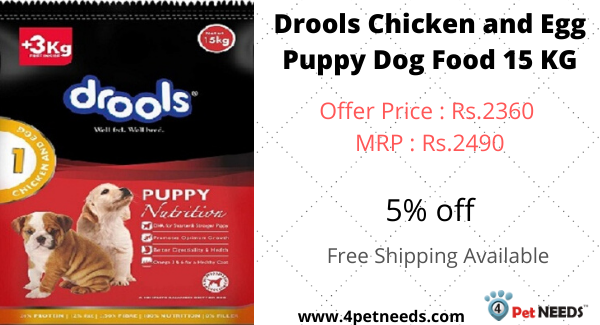Buy Drools Chicken And Egg Puppy Dog Food 15 Kg On 4petneeds Com With Free Shipping And Cod 4petneeds Drools Chickeneggfood Chickenpu In 2020 Dog Food Recipes Dogs Puppies Puppy Food