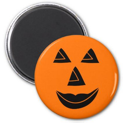 #Halloween Pumpkin Face Magnet - #Halloween #happyhalloween #festival #party #holiday