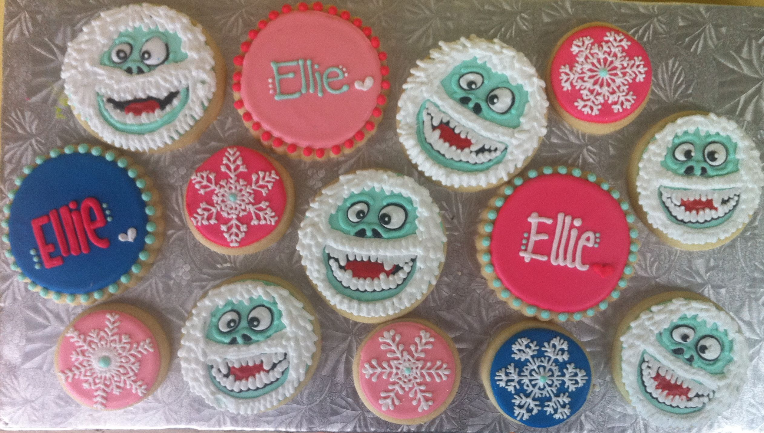 Abominable Snowman Cookie Set Xoxooxoxo My Cookies Hayleycakes