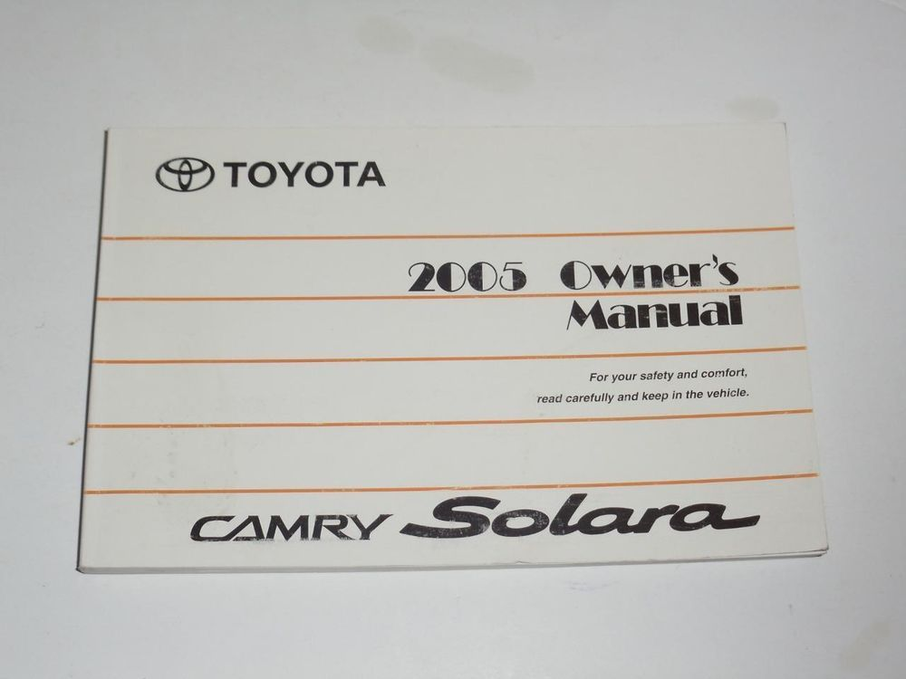 Toyota Camry 2001 Owners Manual Free Download Free User Guide